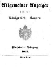 Allgemeiner Anzeiger für das Königreich Bayern: gerichtliche und polizeyliche Bekanntmachungen, Band 15