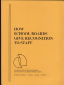 How School Boards Give Recognition to Staff