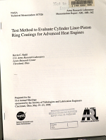 Test Method to Evaluate Cylinder Liner Piston Ring Coatings for Advanced Heat Engines PDF