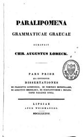 Paralipomena grammaticae graecae: Page 1