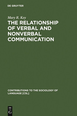 The Relationship of Verbal and Nonverbal Communication PDF