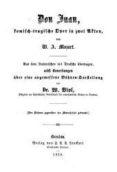Don Juan: komisch-tragische Oper in zwei Akten