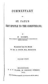 Commentary on St. Paul's First Epistle to the Corinthians: Volume 1