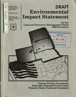 Dakota Prairie Grasslands  Medicine Bow Routt and Nebraska National Forests  N F    Northern Great Plains Management Plans Revision PDF