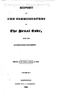 Report of the Commissioners on the Penal Code PDF