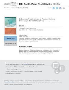 Relevance of Health Literacy to Precision Medicine