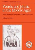 Words and Music in the Middle Ages PDF