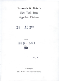 Records   Briefs New York State Appellate Division PDF