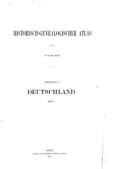 Historisch genealogischer Atlas PDF