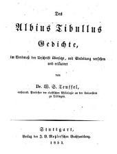 Des Albius Tibullus Gedichte
