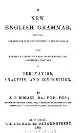 A new English grammar, comprising the substance of Lennie's Principles of English grammar, with alterations