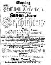 Sammlung von Natur- und Medicin- wie auch hierzu gehörigen Kunst- und Literatur-Geschichten so sich von 1717-26 in Schlesien und anderen Orten begeben ... und als Versuch ans Licht gestellet: Band 23