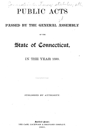 Public Statute Laws of the State of Connecticut: Volume 1899