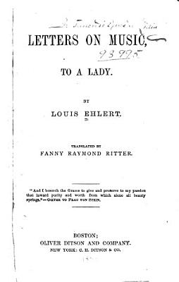 Letters on Music  to a Lady PDF