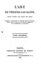 L'Art de vérifier les dates depuis l'année 1770 jusqu'à nos jours: M.DCCCXXX