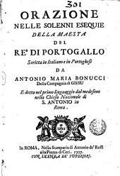 Orazione nelle solenni esequie della Maestà del Ré di Portogallo: scritta in italiano e in portoghese