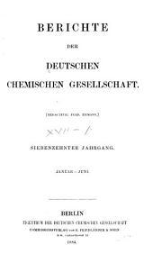 Berichte der Deutschen Chemischen Gesellschaft: Band 17