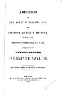 Addresses of Rev  H W  Bellows  and R D  Hitchcock PDF