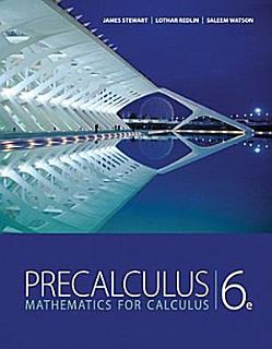 Precalculus  Mathematics for Calculus Book
