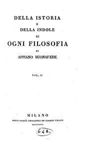 Della Istoria e Della Indole di Ogni Filosofia