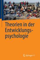 Theorien in der Entwicklungspsychologie PDF