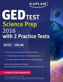 Kaplan GED   Test Science Prep 2016 Book
