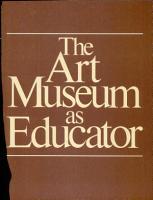 The Art Museum as Educator PDF