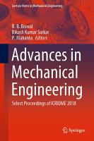 Advances in Mechanical Engineering PDF