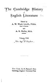 The Cambridge History of English Literature: Volume 8