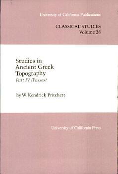 Studies in Ancient Greek Topography PDF