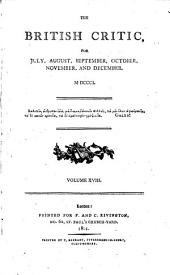 The British Critic: Volume 18