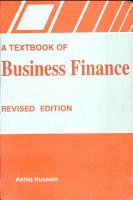 A Textbook of Business Finance PDF