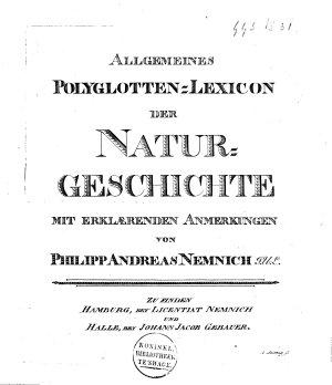 Allgemeines Polyglotten Lexicon der Natur Geschichte PDF