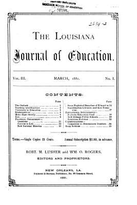 Louisiana Journal of Education PDF