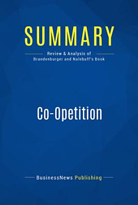 Summary  Co Opetition PDF