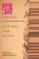 Cutting for Stone PDF