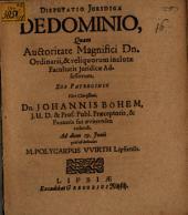 Disp. iur. de dominio