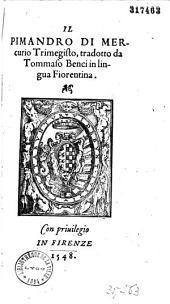 Il pimandro di Mercurio Trimegisto
