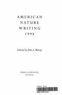 American Nature Writing  1998 PDF