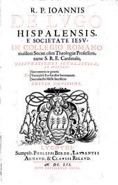 Disputationes scholasticae de sacramentis in genere