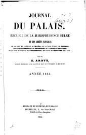 Journal du palais: recueil le plus complet de la jurisprudence belge, 1837-1854