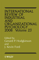 International Review of Industrial and Organizational Psychology 2008 PDF