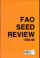 FAO Seed Review 1989 90 PDF