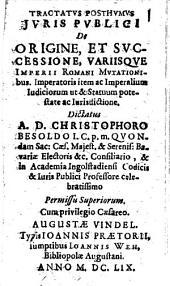 Tractatus ... de origine ... Variisque Imperii Romani mutationibus