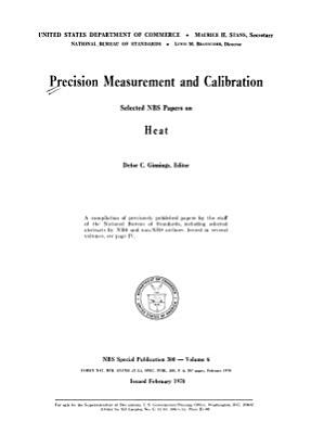 Precision Measurement And Calibration Heat D C Ginnings Ed
