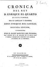 Cronica del rey D. Enrique el quarto de este nombre
