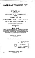 Hearings  Reports and Prints of the House Committee on Post Office and Civil Service PDF