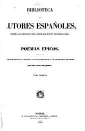 Poemas epicos: Volumen 29