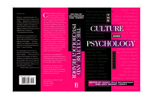 The Culture and Psychology Reader Book