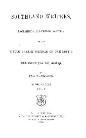 Southland Writers, Biographical and Critical Sketchesof the Living Female Writers of the South